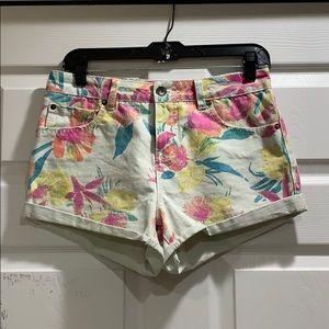 Billabong High Waist Tropical Denim Shorts 27